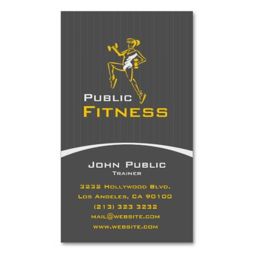 Best Fitness Trainer Business Cards Images On Pinterest - Personal trainer business card template