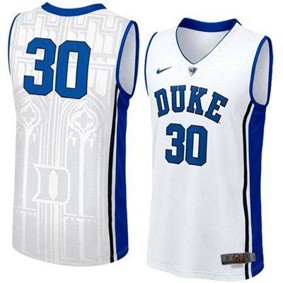 509bd88c3 NEW Duke Blue Devils  30 Men s Swingman Aerographic Elite Basketball Jersey  - White