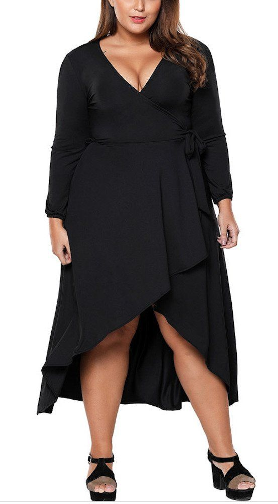 ede2e38d77 Maternity Dresses - sekitobajapan.inc Plus Size Solid V Neck Knee Length  3 4 Sleeve Party Dress for Women XL Black -- Go to the picture link even  more ...