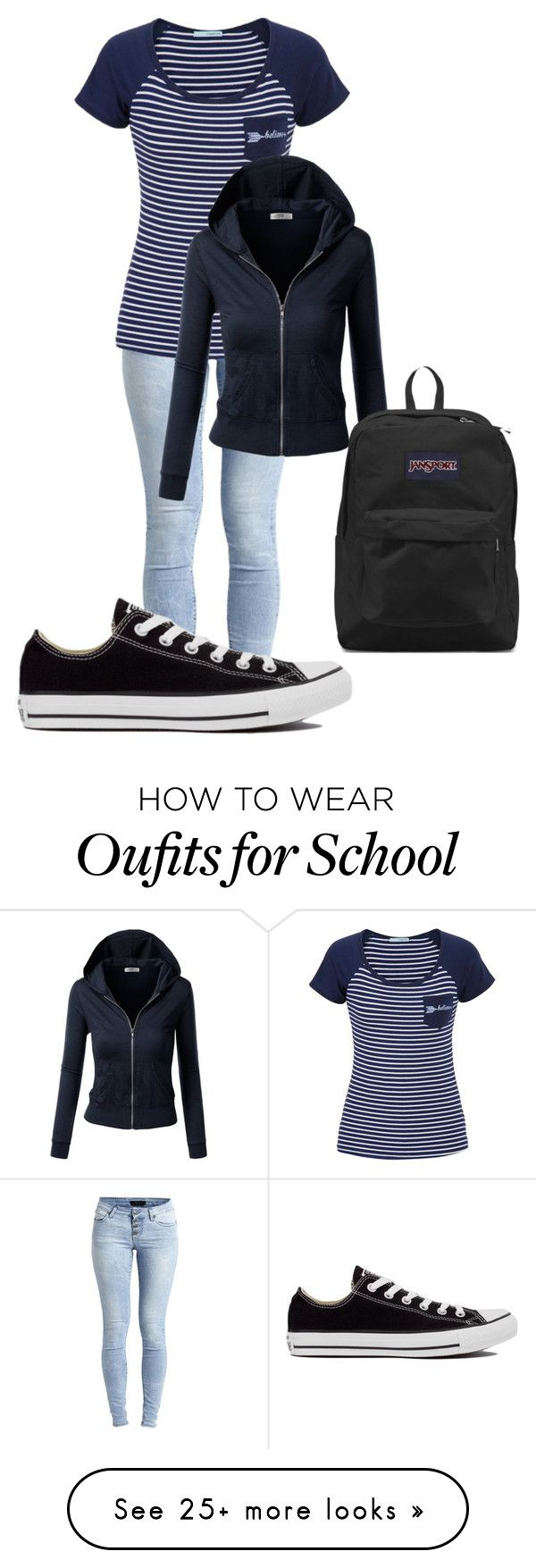 """""""School- Monday"""" by zumiez-skater on Polyvore featuring Object Collectors Item, maurices, J.TOMSON, Converse and JanSport"""