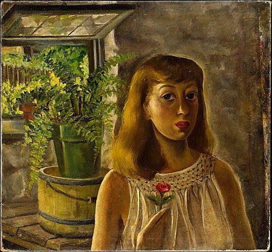 'Self-Portrait' (c.1929) by American painter Lee Krasner (1908-1984). Oil on canvas. 30.5 x 32.5 in. via the Met, NYC