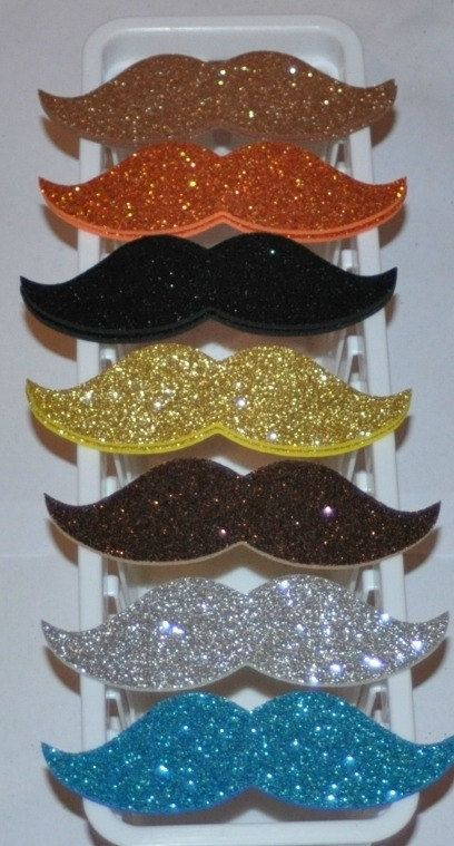 Glitter Mustaches! Just get glitter cardstock or glitter fun foam at the craft store! (maybe make hair bows too?) What else could be a glittery prop?!?