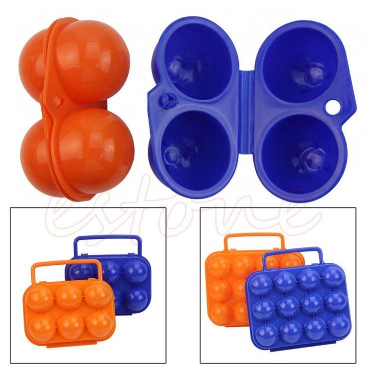 F85 Бесплатная Доставка Горячей Портативный Carry 2/6/12 Яйца Контейнер Организатор Хранения Box Дело Складные Пластиковые