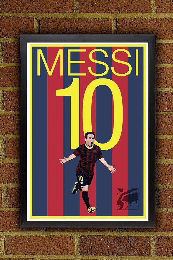 Messi 10 Barcelona FC Fußball - Brasilien WM-Plakat Lionel Messi, Argentinien Fußball-Poster ist für ein Plakat nur. Das Plakat kommt mit Variationen