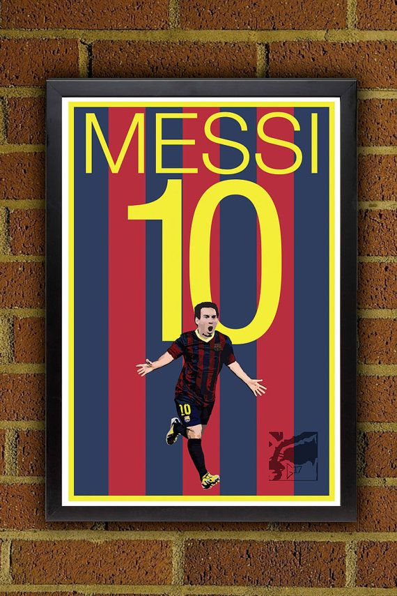 Lionel Messi 10 Poster Barcelona FC Argentina by Graphics17, $19.99