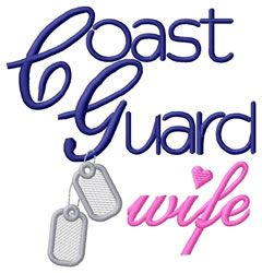 Coast Guard Wife embroidery design and other military designs