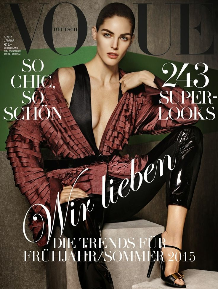 3 Times a Charm--The January 2015 issue of Vogue Germany follows in the lead of the Spanish edition with another set of three model covers. Karmen Pedaru,