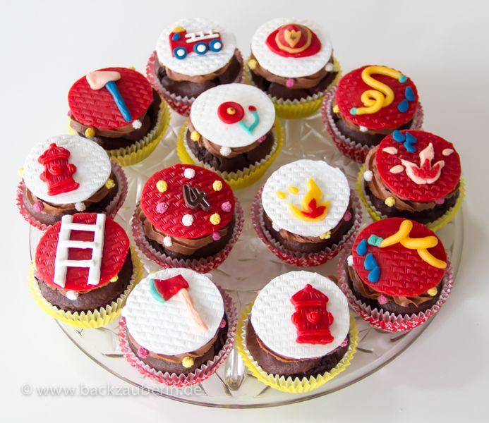 Feuerwehr-Cupcakes