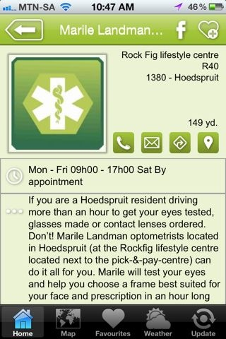 """Marile Landman Optometrist is a hAPPy place - a """"medical services"""" listing on the Hoedspruit Info App"""