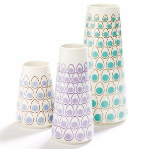 porcelain egg dot vases. from £27.50-£40