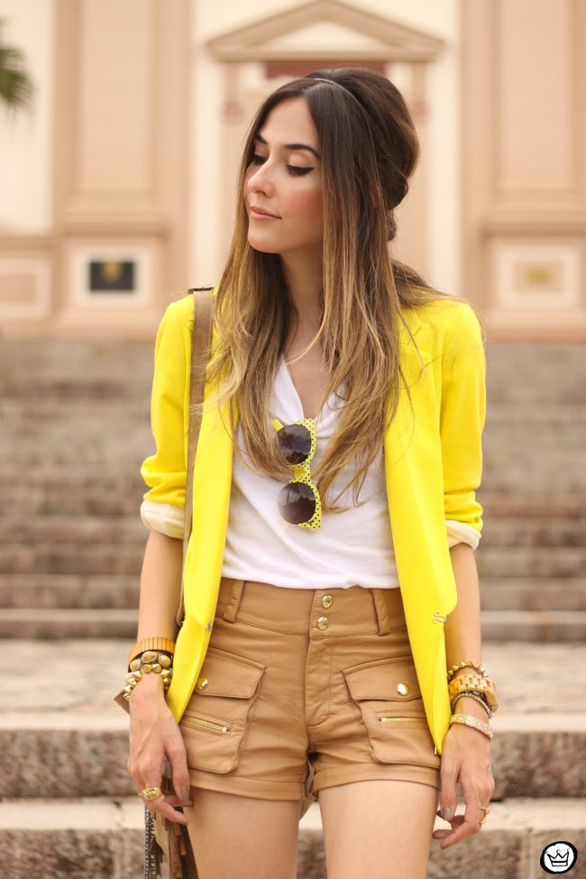 FashionCoolture - 26.08.2015 look du jour Shoulder yellow blazer pop of colour (2)