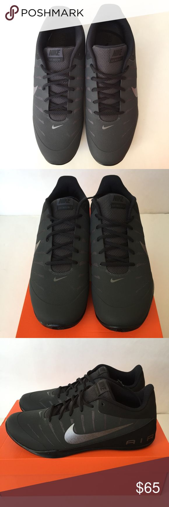 Nike Air Mavin Low 2 Mens Shoes Nubuck 30368-003 Nike Air  Mavin Low 2 Mens Shoes Nubuck 830368-003 Anthracite Basketball Size 13 New with Box!!  Shoot hoops in these eye-catching low-profile basketball shoes that feature a great court feel. -Max Air heel unit for excellent ground relief -breathable synthetic and mesh upper -half-length inner booties ensures snug fit -drop-in midsole made of Phylon foam -rubber outsole provides maximum grip -low-top design allows unrestrictive movement…