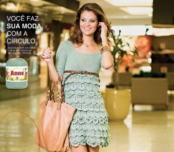 Crochet Dress  #crochet: Dress Patterns, Crochet Dresses, Knitting, Crochet Clothes, Tissue, Crochet Patterns, Crochet Clothing