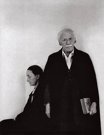 Арнольд Ньюман. Гений портрета: Джорджия О`Киф и Альфред Стиглиц, муж и жена, художник и фотограф. Нью-Йорк, 1944 (фотография №11)
