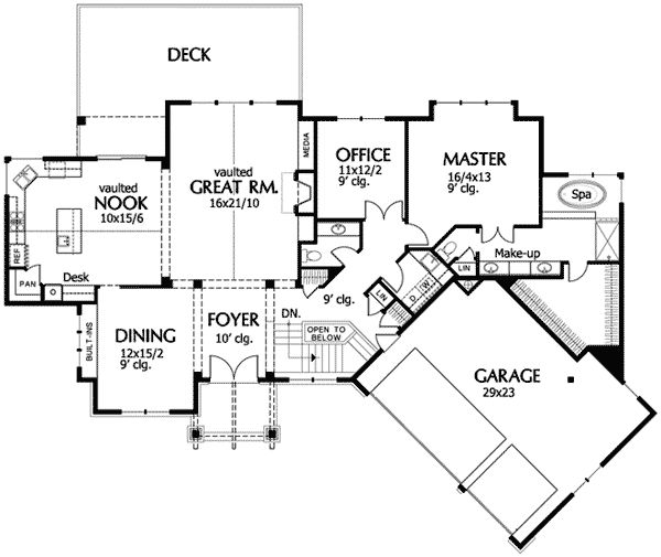 476 best House plans images – House Plans With Gourmet Kitchens