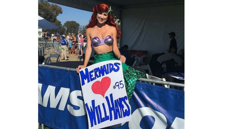 We know why the St Louis Rams moved to LA. It's so they can be closer to a mermaid. Can you blame them?