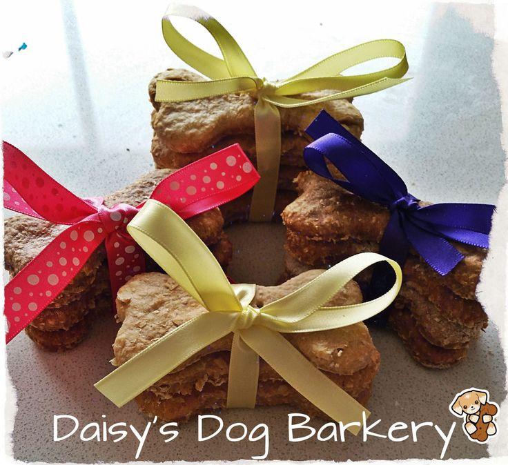 Dog cookies, homemade. Peanut butter and carob. www.facebook.com.au/daisysdogbarkery