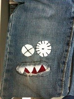 jean monsters - Because little boys wear out their jeans before they grow out of them!