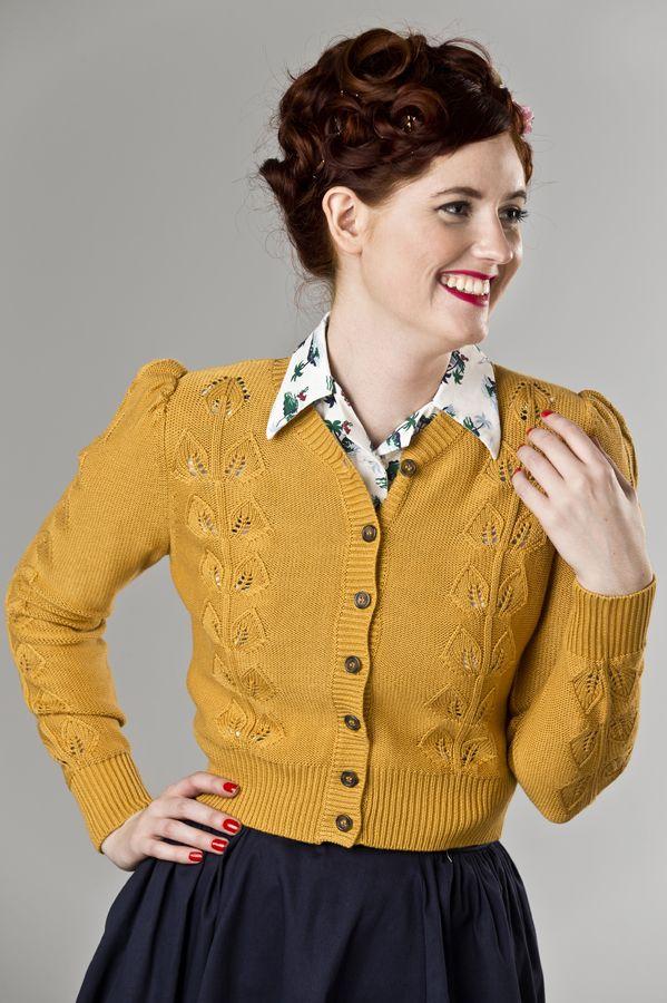 emmydesign - the Susie Q cardigan. mustard