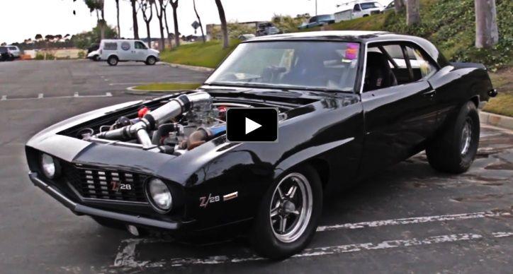 Bad To The Bone Twin Turbo 1969 Chevy Camaro Z28 Hot Cars