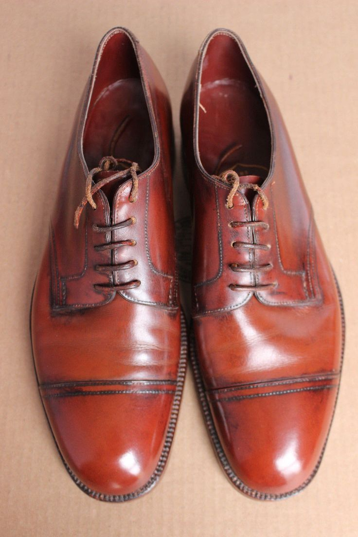 VTG 1980s Bespoke Poulsen Skone New Lingwood Captoe Derby Shoes 8.5 England | eBay