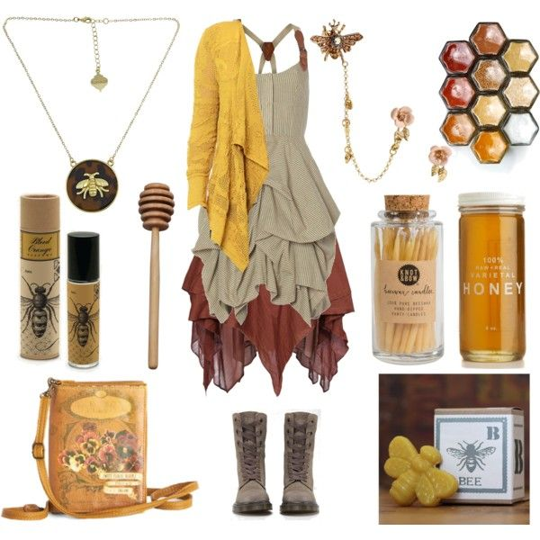 The Beekeeper by maggiehemlock on Polyvore featuring AllSaints, Jen Kao, Dr. Martens, Disaster Designs, Fornash, Betsey Johnson and Skeem