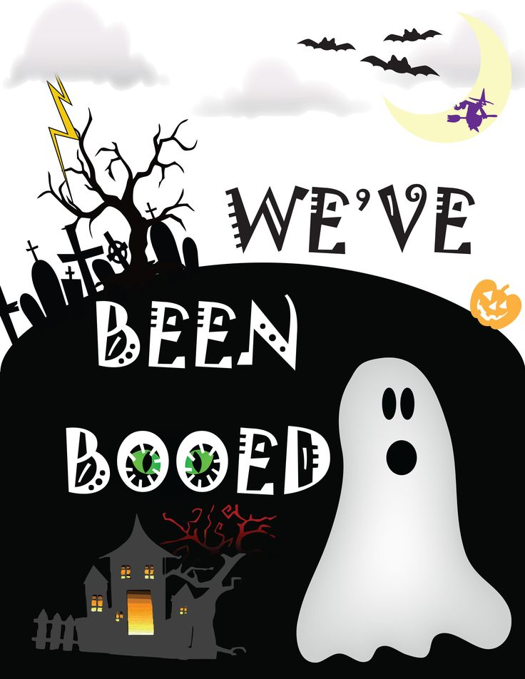 You've Been Booed Printable and Treat Ideas by Clarks Condensed
