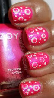 Zoya Lola polka dot nails