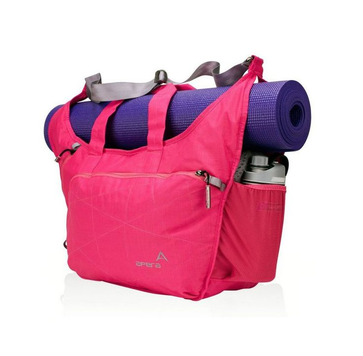 Apera Bags Yoga Tote. Yoga tote bag with fushia color, a perfect match for you who love yoga, you can carried your mat easily because this bag has mat storage, feature that allows you to carry your mat securely, no more carrying your mat separately.  http://zocko.it/LEVu3