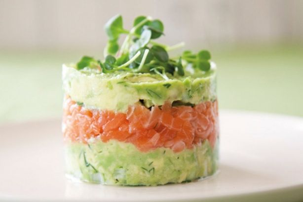 Salmon Avocado Towers recipe by Annabel Langbein