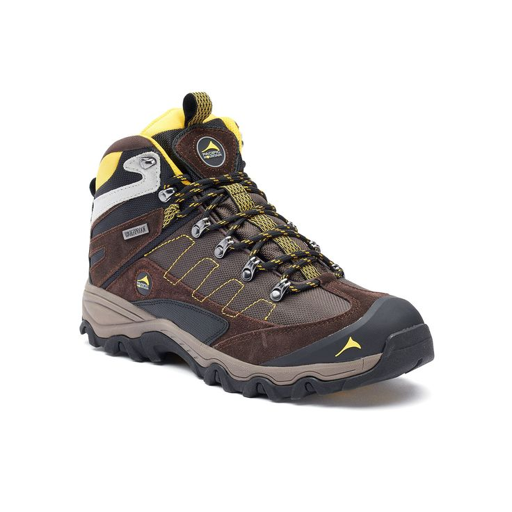 Pacific Mountain Edge Men's Waterproof Hiking Boots, Size: medium (11.5), Brown, Durable