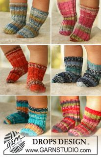 Tiny Toes - Socks for baby and children, knitted in DROPS Fabel - Free pattern by DROPS Design