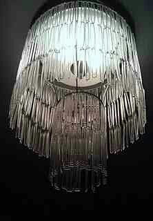how to make a light shade with plastic spoons