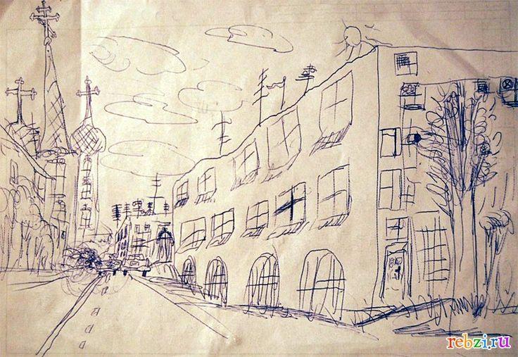 Детский рисунок: город (Святослав, , 6 лет, Мичуринск)