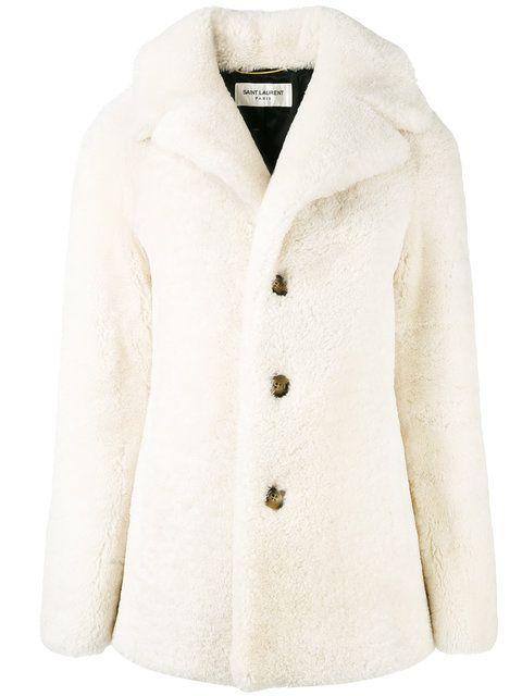 SAINT LAURENT Caban Coat. #saintlaurent #cloth #coat