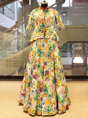 DCAA0211A-Multi-Color-Silk-Printed-Gown