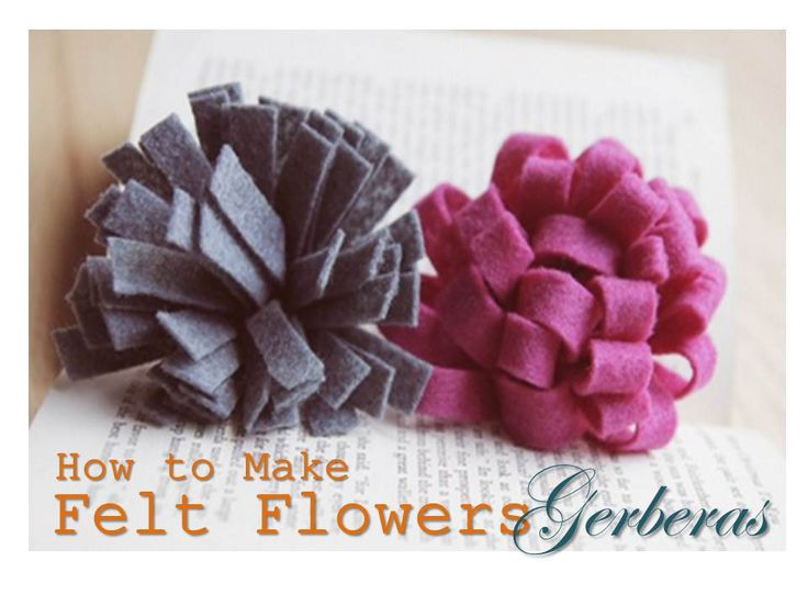#Tutorial | #How to Make #Felt Flowers - Gerberas. If you love this Gerberas, you'll love Camellia, too. Look for it in our DIY & Craft Board, :)