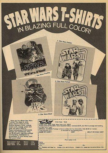 1977 Star Wars T-Shirt Ad