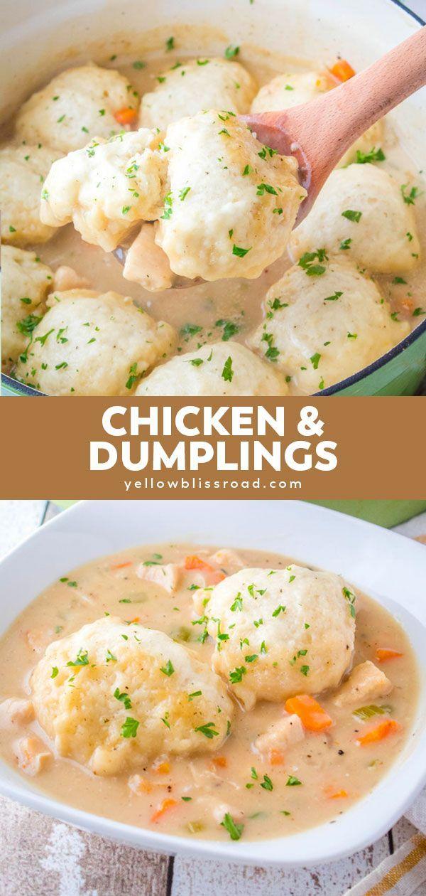 Chicken And Dumplings Recipe Recipes Chicken And Dumplings Comfort Food