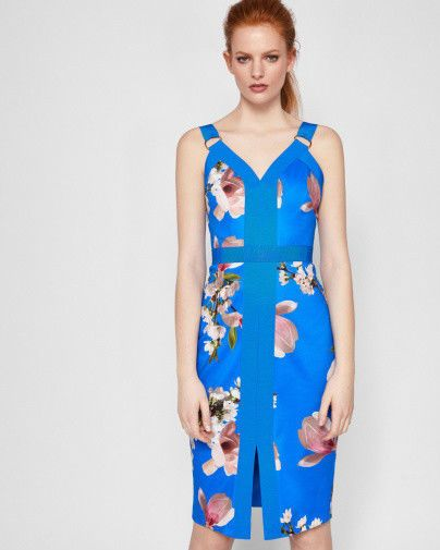 644a442ac1f8 BEAUTIFUL TED BAKER HARMONY CONTRACT BODYCON BLUE DRESS SIZE 2 UK 10   fashion  clothing  shoes  accessories  womensclothing  dresses (ebay link)