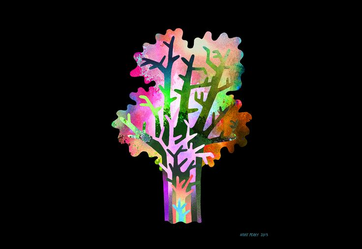 Fluoro Colour Combinations use of positivie and negative space Print by Mike Perry