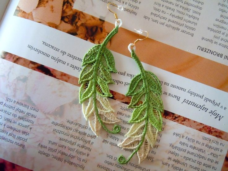 Lace Earrings - Spring Tweeting from Lace-Design by DaWanda.com