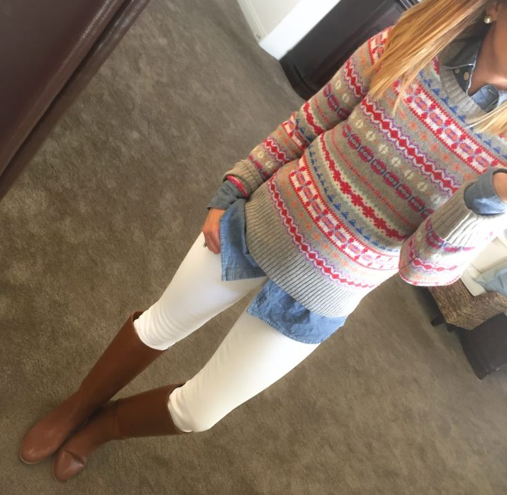 fairisle-chambray-white-skinny-jeans-hunter-boots-jpg-3