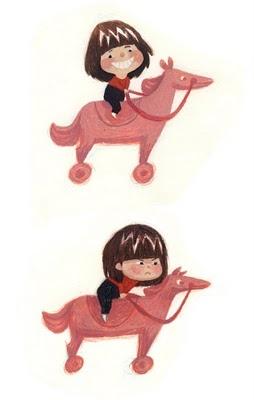Olga Stern Masha on horse Illustration
