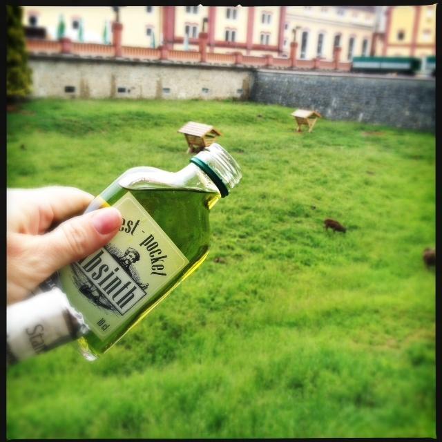 a little bottle of Absinth called Vest Pocket