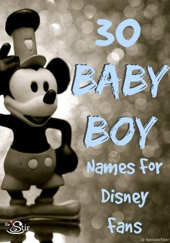 Great baby boy names for Disney fans!