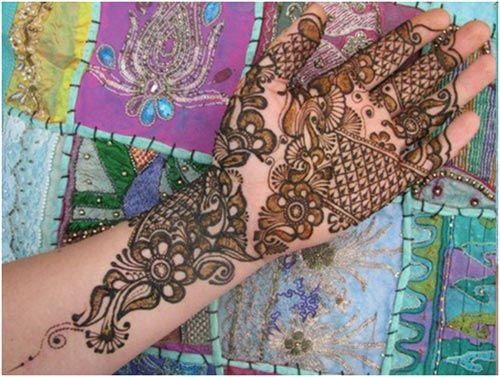 Flower Marwari Mehandi Designs