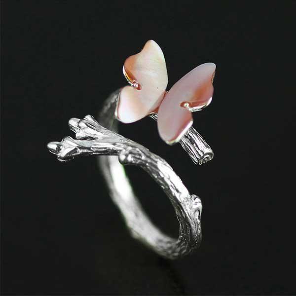 Butterfly Silver Ring @ Fig & Wattle