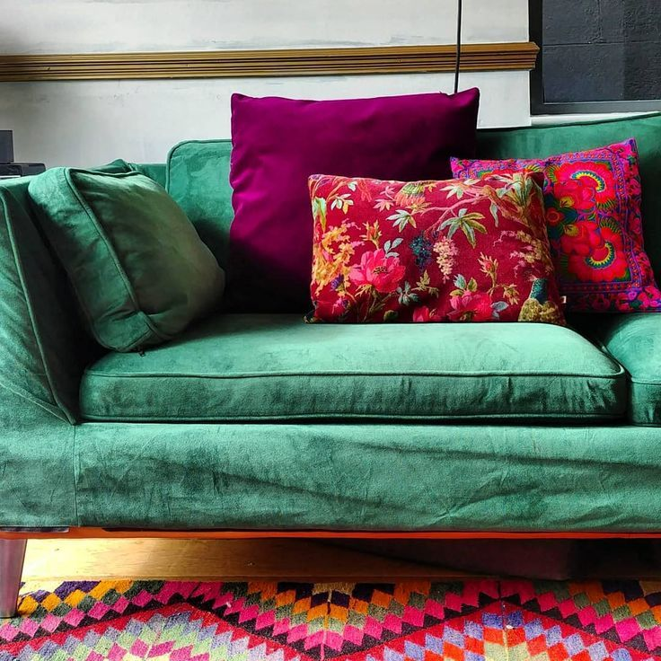 Ikea Stockholm Sofa In Rouge Emerald