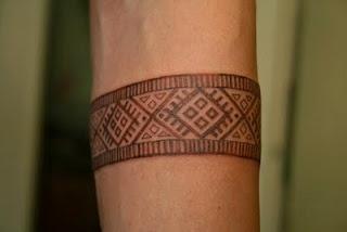 Estonian tribal wrist tattoo